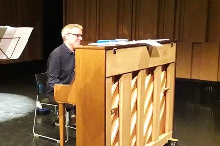 Conor Linehan Rehearsing