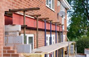 redbrick house extension at rear
