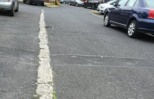 Unfinished road in Housing estate