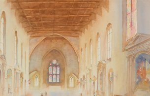 Painting of Chiesa Di San Domenico by Tom Roche.