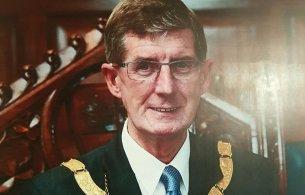 Councillor John Bailey as Cathaoirleach in 2011