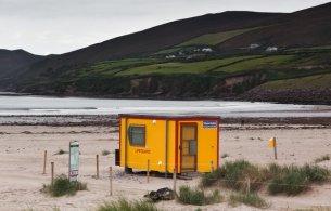 Lifeguard hut on a beach