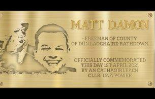 Matt Damon Plaque