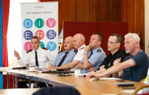 Local Gardaí at Launch of Operation Irene in County Hall Tuesday 29th M