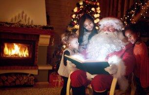 Santa reading books