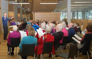 Musical Memories Choir performing in dlr LexIcon December 2014