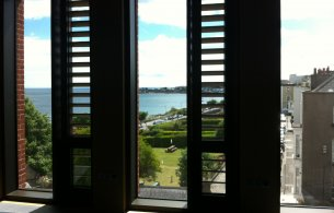 View of the Sea from the Writer in Residence's room