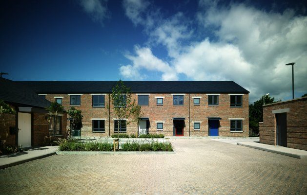 The Brambles, Park Close, View from Courtyard, DLR Architects