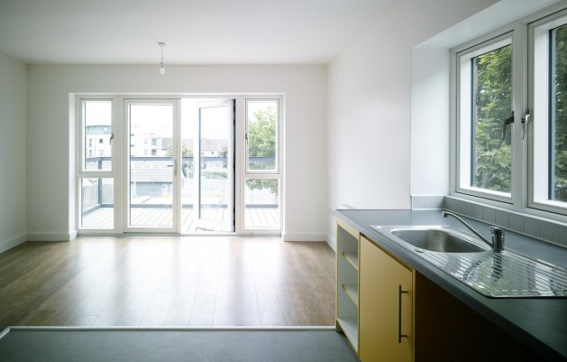 The Brambles, Park Close, View from Kitchen, DLR Architects