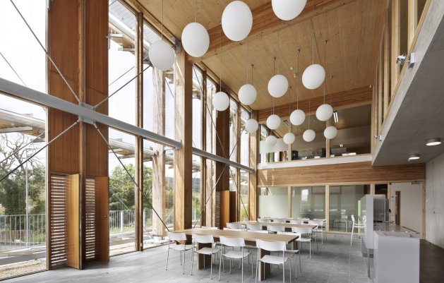 Administration Building, Canteen Area, Ballyogan Operations Centre, DLR Architects