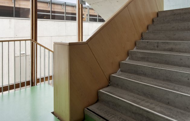 Administration Building Stairwell, DLR Architects, Ballyogan Operations Centre