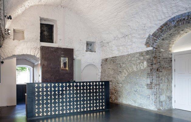 Goats Castle, Reception Desk, DLR Architects