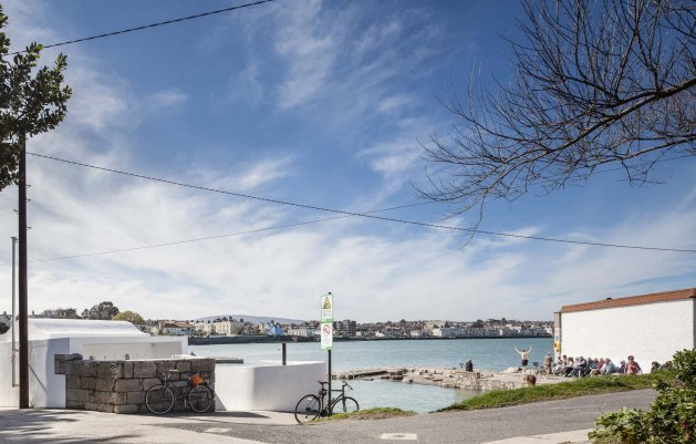 Sandycove Bathing and Lifeguard Hut, View from North, DLR Architects, Dun Laoghiare, Sandycove
