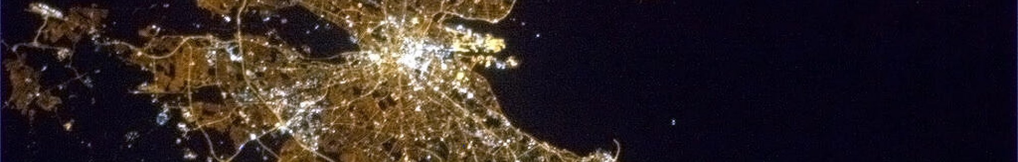 Dublin from International Space Station April 2013