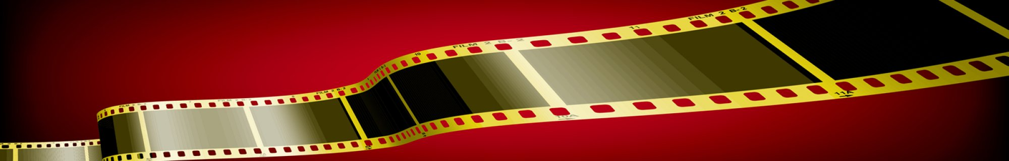 Red and gold film strip