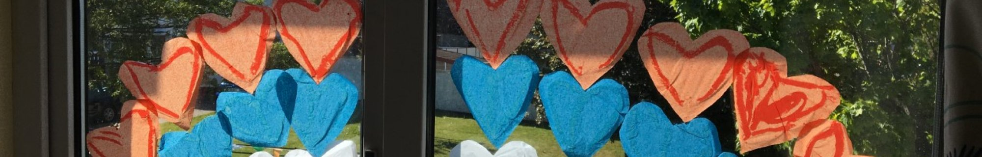 Image of window with hearts
