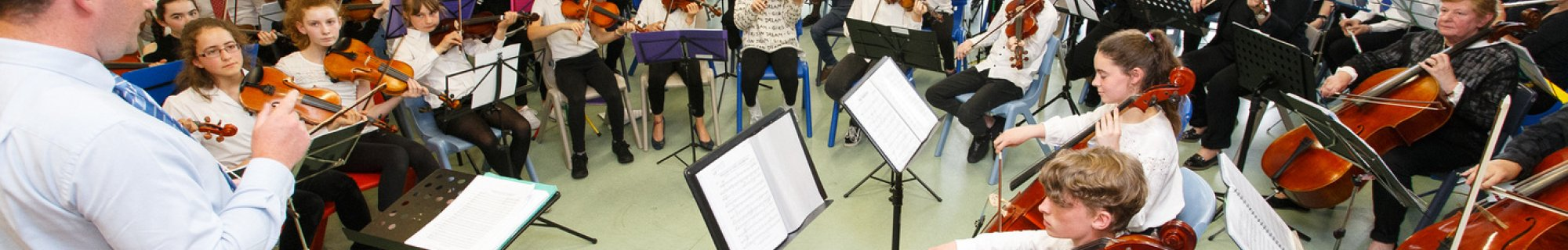 Image of intergenerational orchestra