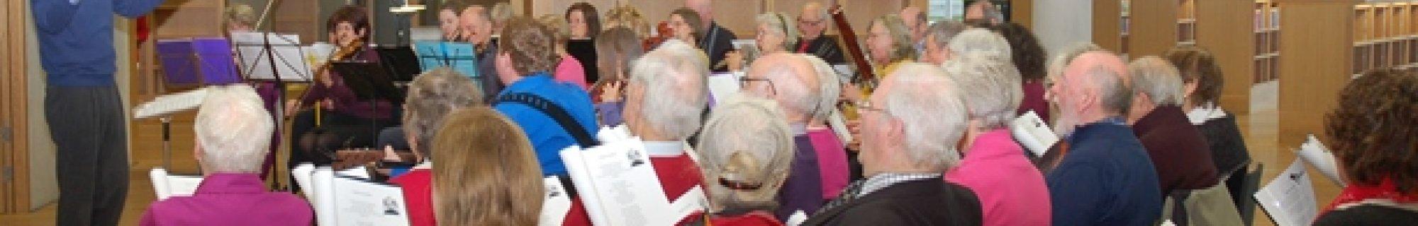 Musical Memories Choir performing in dlr LexIcon December 2014