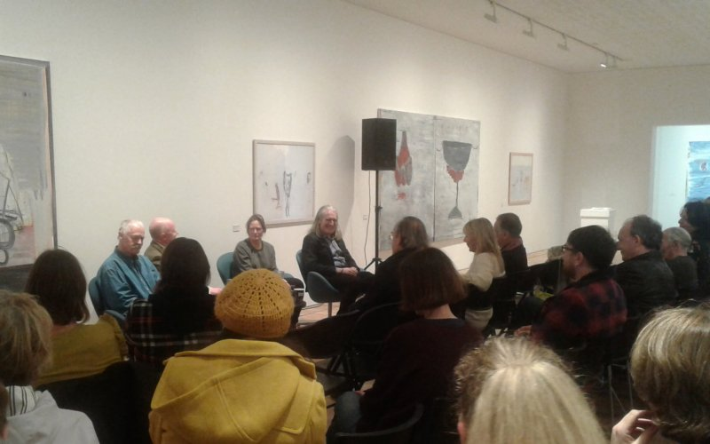 'Peripheries' exhibiting artists Paddy Graham, Sinead ni Mhaonaigh and Eddie Kennedy in conversation with John Daly