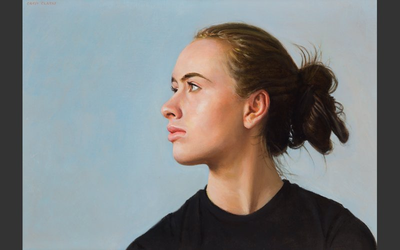 Outlook - portrait of girl by Carey Clarke