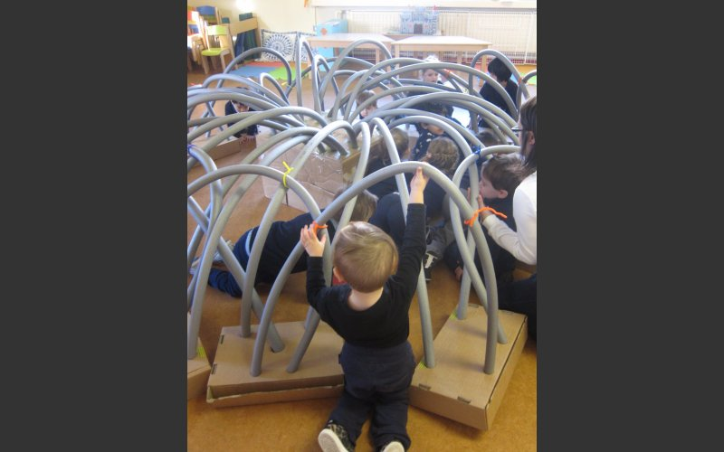 early years children working with artist Helen Barry