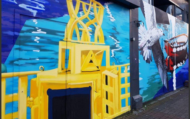 Artwork on George's Street Upper, Dún Laoghaire