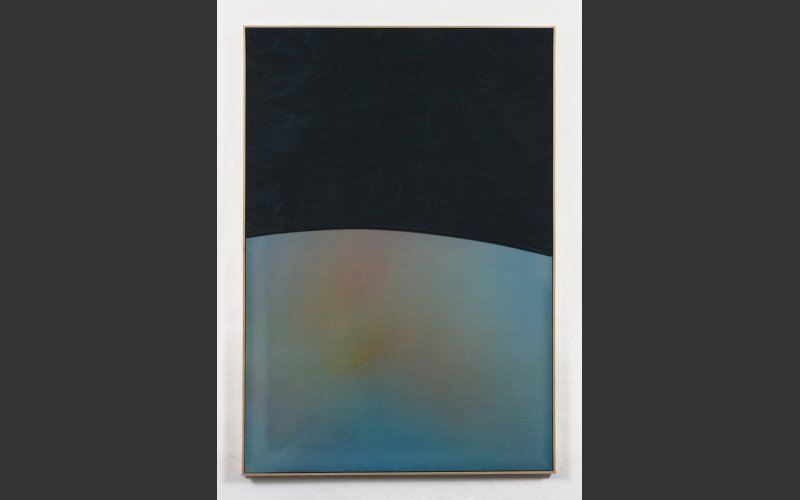 "painting titled ""Future primitive II"" by artist Paul Hallohan"