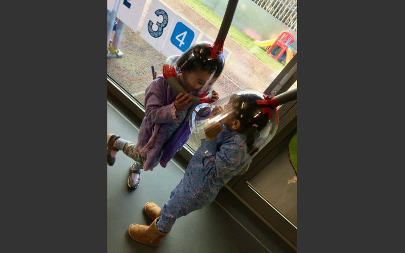 Children listening to sounds