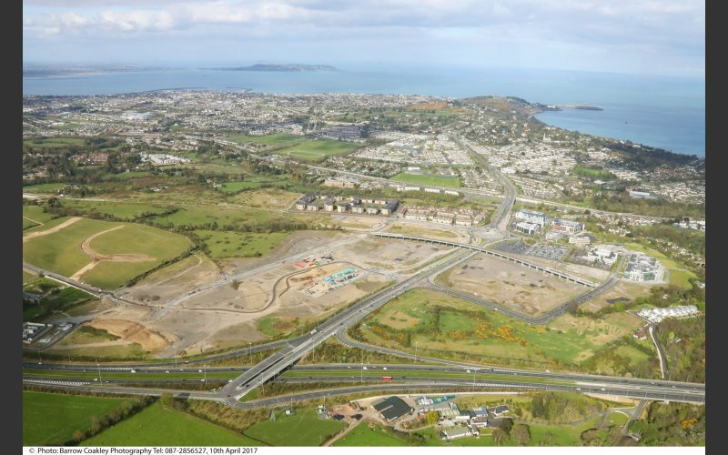 Aerial view of Cherrywood Planning Scheme