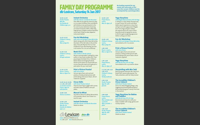 Family Day Flier programme