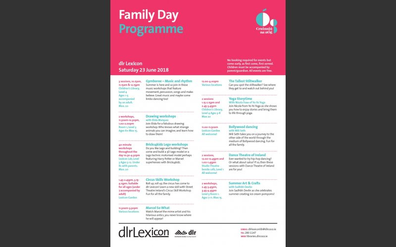 Cruinniú na nÓg a day of youthful creativity and family fun at dlr LexIcon