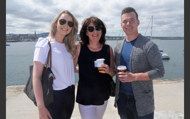 Geraldine and Annagh Bevan with Finn Henderson