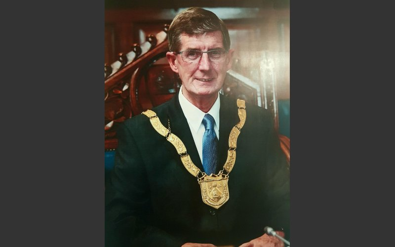 Councillor John Bailey as Cathaoirleach in 2011