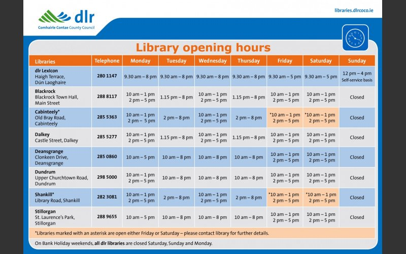 Libraries information leaflet page 2