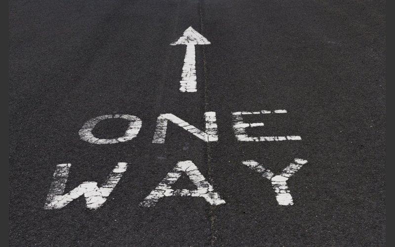 One Way Road Markings