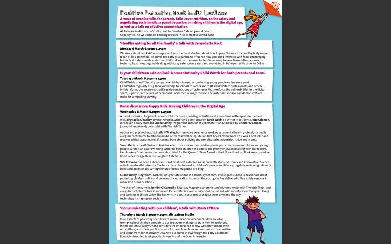 Positive parenting leaflet