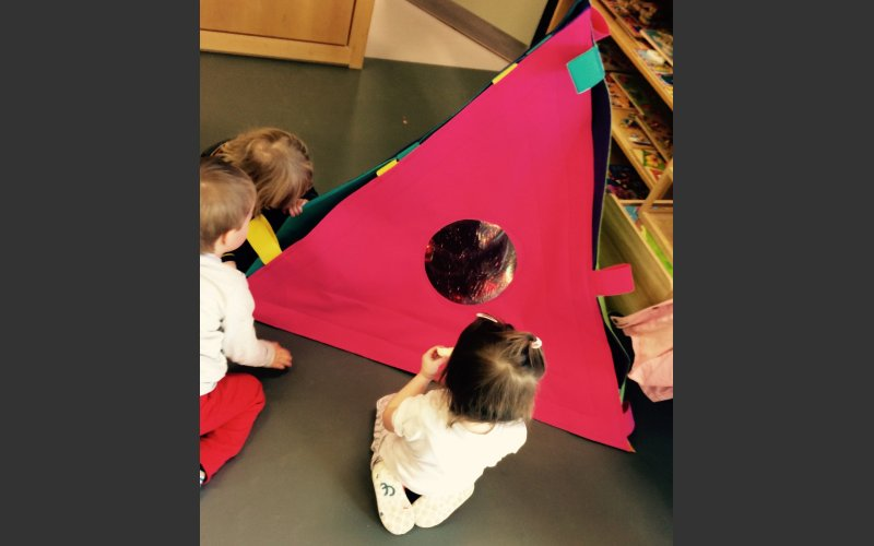 'Tetrahedron' a textile structure that enables children living with complex needs to interact with their peers in a comfortable and safely.