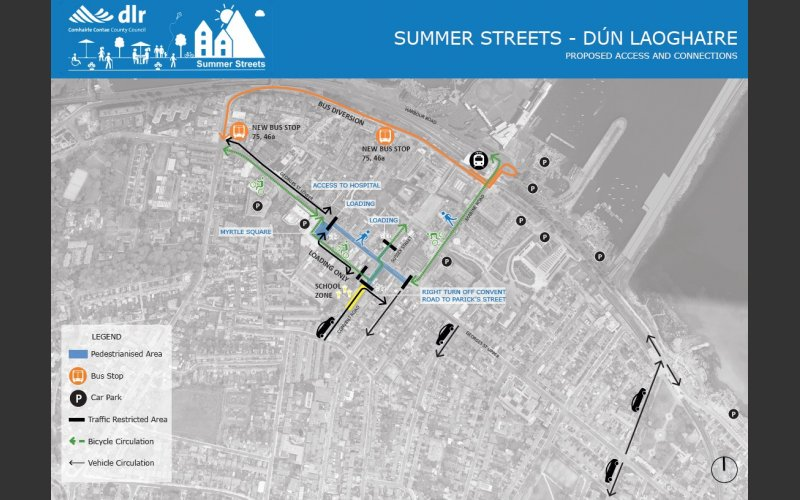 MAP proposed access Dun Laoghaire SummerStreets