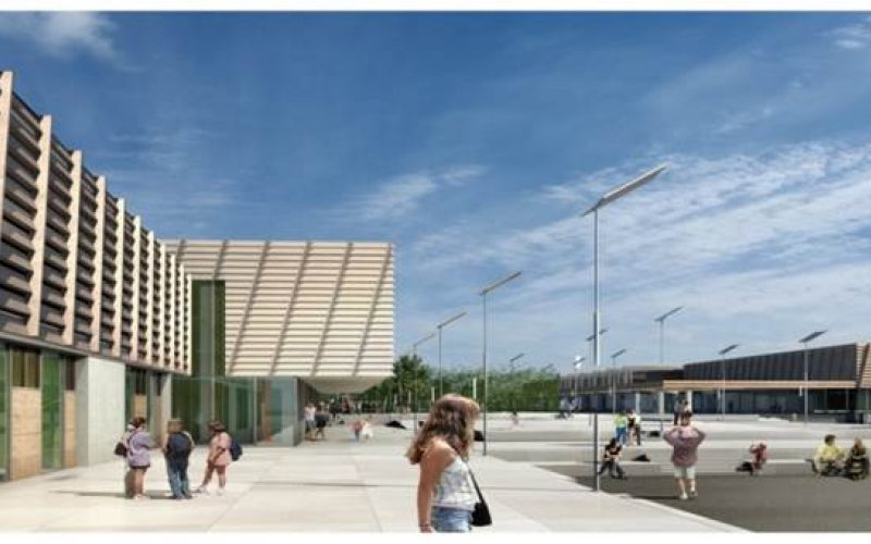 Exterior of Samuel Beckett Civic Campus Ballyogan