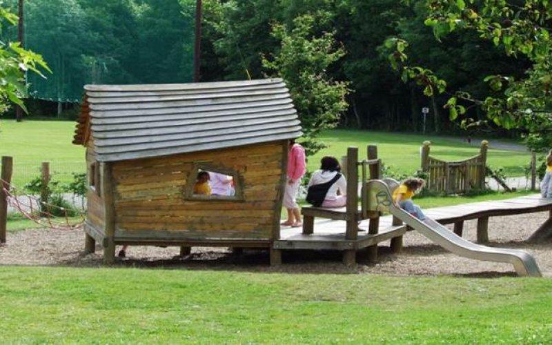 Wooden Structure in playground