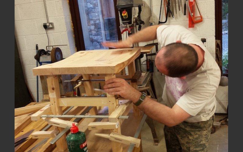 Stool making workshop