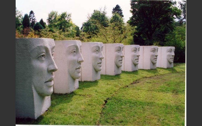 photograph of the sculpture Theatre in Cabinteely Park