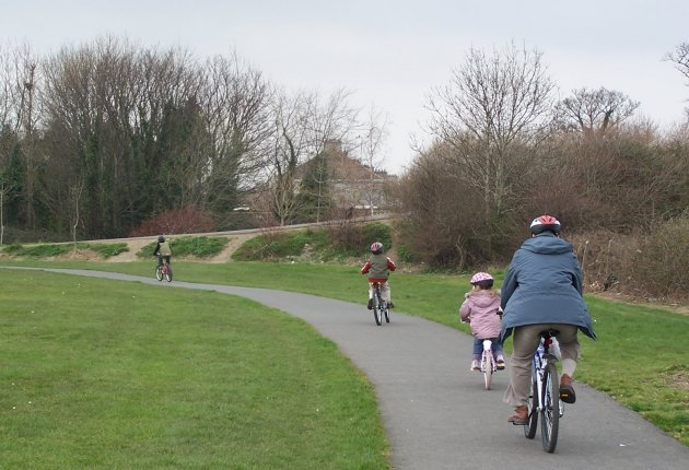 cycling in shanganagh park