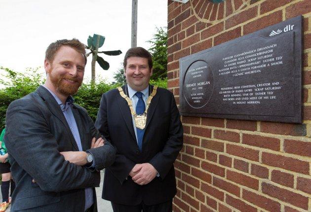 Unveiling of plaque celebrating the life of Dermot Morgan