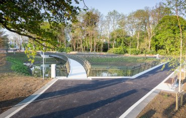 Leopardstown Link Road & Roundabout Configuration Cycleway