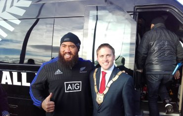 Charlie Faumuina, All Blacks & Cllr Cormac Devlin