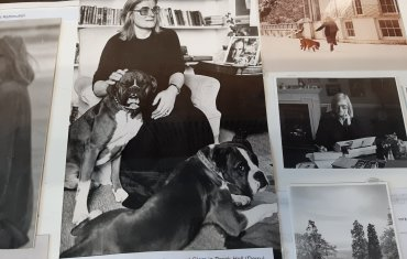 Jennifer Johnston's writing desk