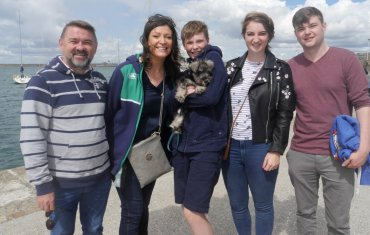 Joe, Jess, Gavin, Martha and Fionn with doggy Bo