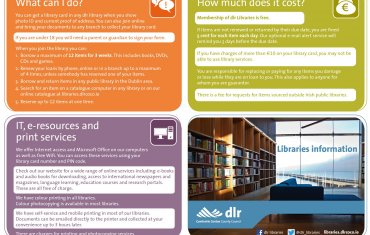 Libraries information leaflet