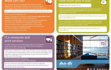 Libraries information leaflet page 1